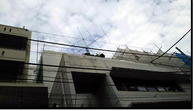 旧JARL事務所 アンテナ