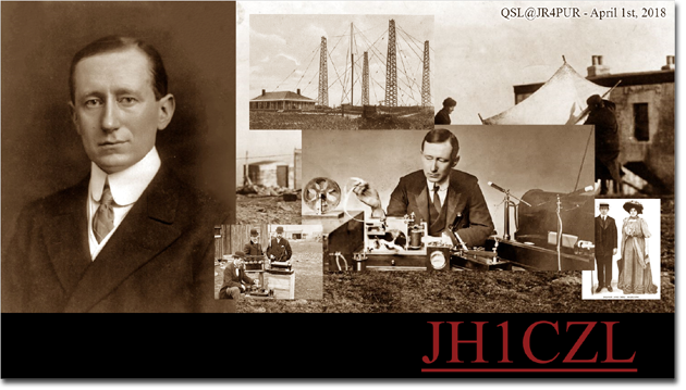 QSL@JR4PUR #014 - Guglielmo Marconi (1874-1937)