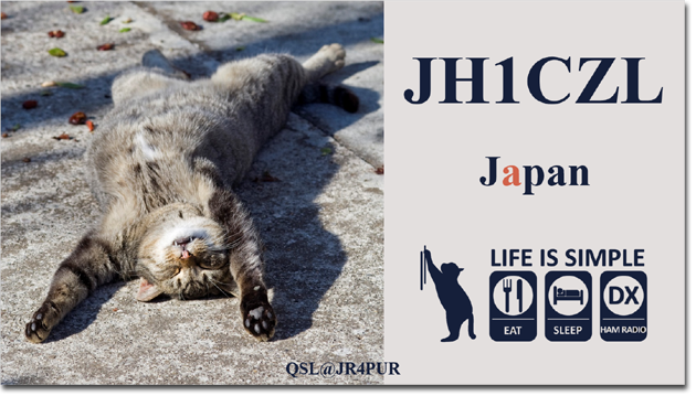 QSL@JR4PUR #024 - Sleeping Cat