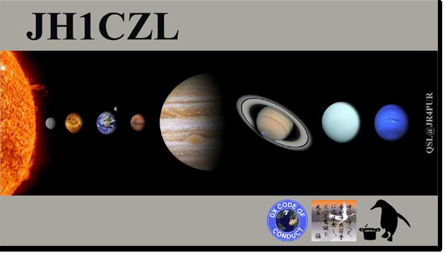 QSL@JR4PUR #100 - Solar System