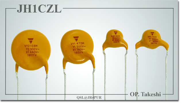 QSL@JR4PUR #305 - Ceramic Disc Capacitors